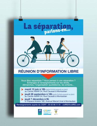 Affiche et flyer pour le CIDFF