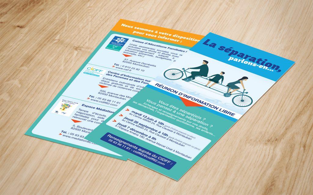 flyer prospectus tract association cidff tarn-et-garonne 82