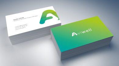 Création de l'identité de marque Aviwell