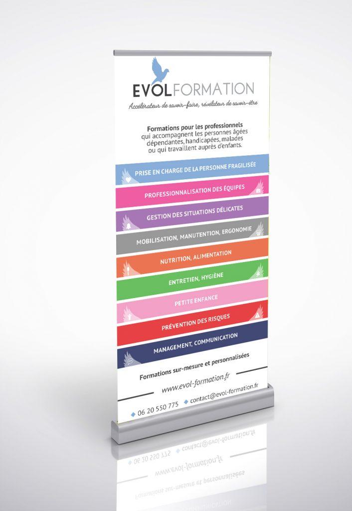 kakemono roll up evol formation