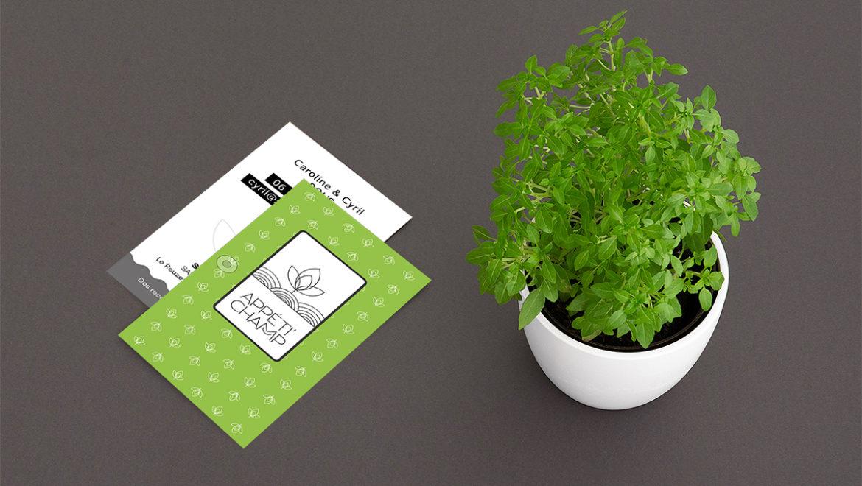 Identité de marque APPETI'CHAMP & packaging produit